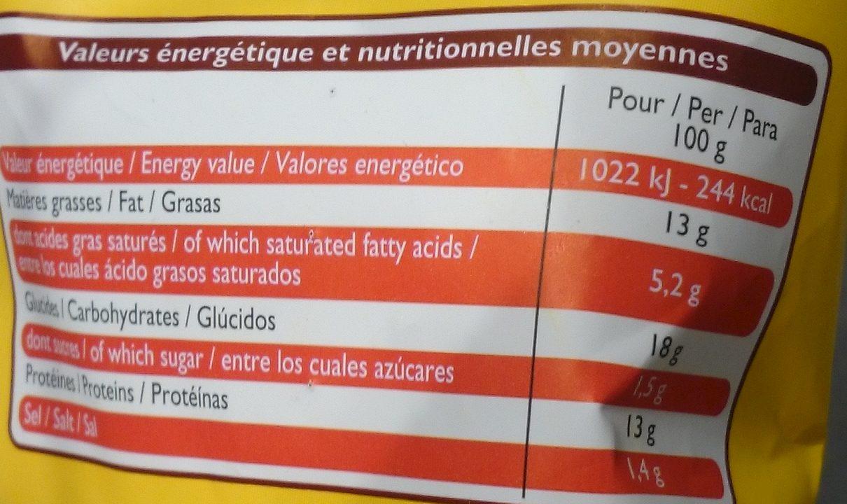 Crousty de Poulet - Voedingswaarden