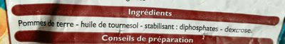 Pommes rissolees - Ingrediënten