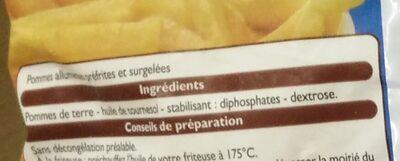 Pommes allumettes - Ingrédients - fr