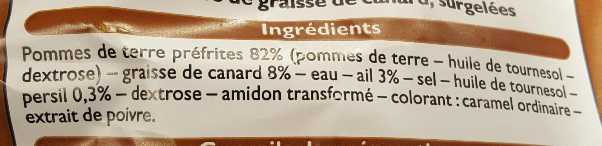 Pommes de Terre Périgourdine - Ingrédients