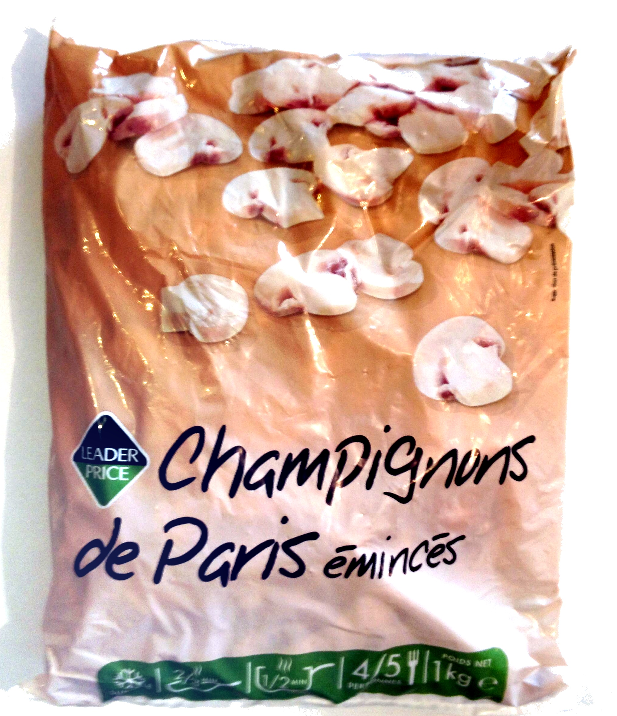 Champignons de Paris émincés, Surgelé - Produit - fr