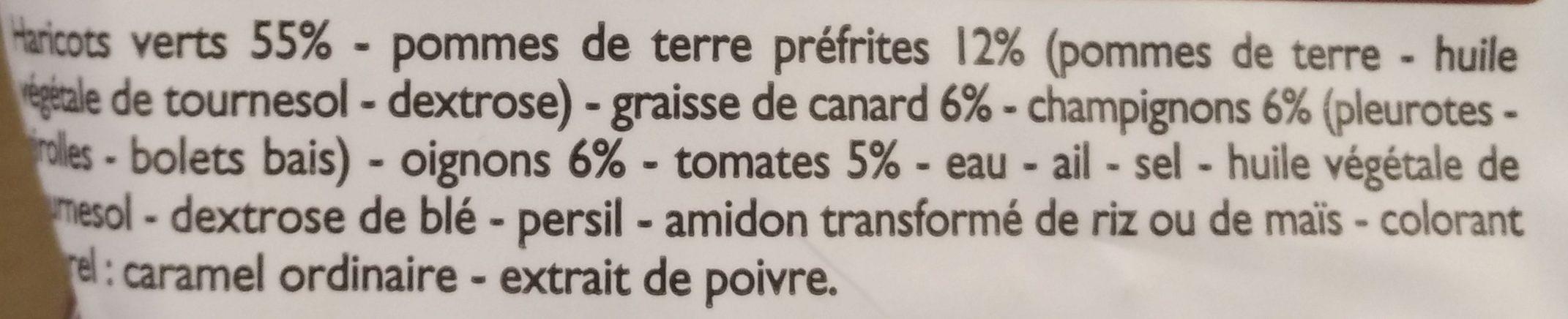 Haricots Verts à la Périgourdine - Ingrédients