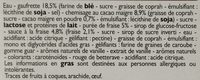 6 Cônes Vanille -Fraise - Ingrédients