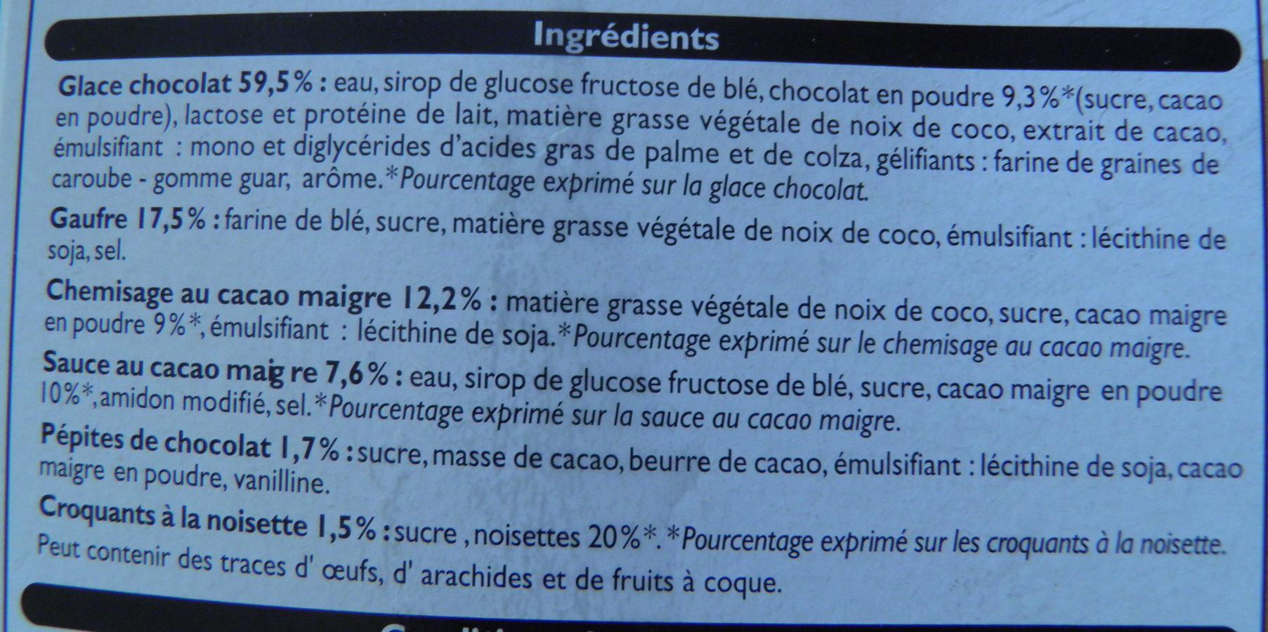 6 Cônes Chocolat - Ingrédients - fr