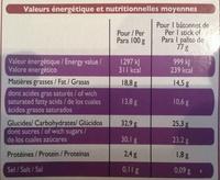 Méga classic - 4 Bâtonnets vanille au chocolat blanc - Voedingswaarden - fr