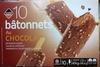 10 bâtonnets au chocolat - Produit