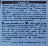 4 Cônes Crème brûlée - Ingrédients
