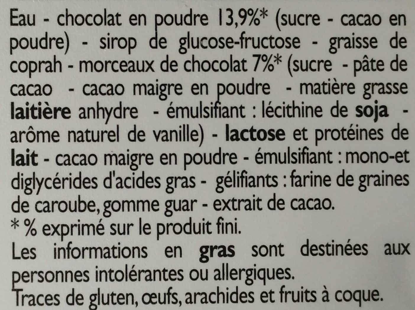 Bac Mono Price >> Glace Chocolat aux Pépites de Chocolat - Leader Price - 495 g