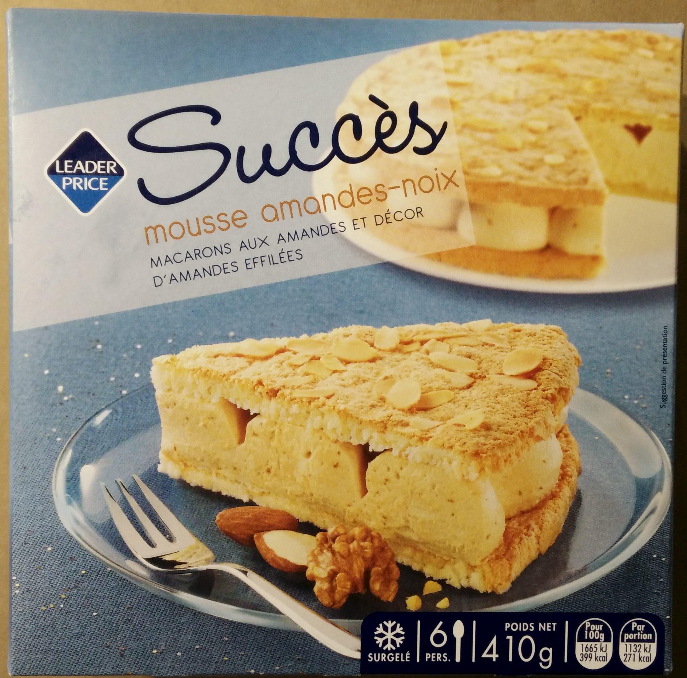 Succès mousse amandes-noix - Product - fr