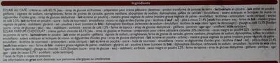 Eclairs au Café & parfum Chocolat - Ingrédients - fr