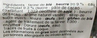 Pains au Chocolat Pur Beurre - Valori nutrizionali - fr