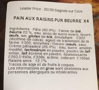 Pains aux raisins - Produit - fr
