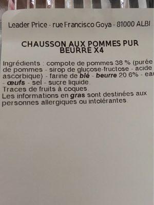 Chausson aux pommes - Ingredienti - fr