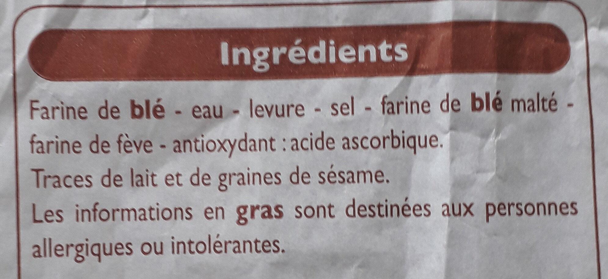 Baguette - Ingrediënten - fr