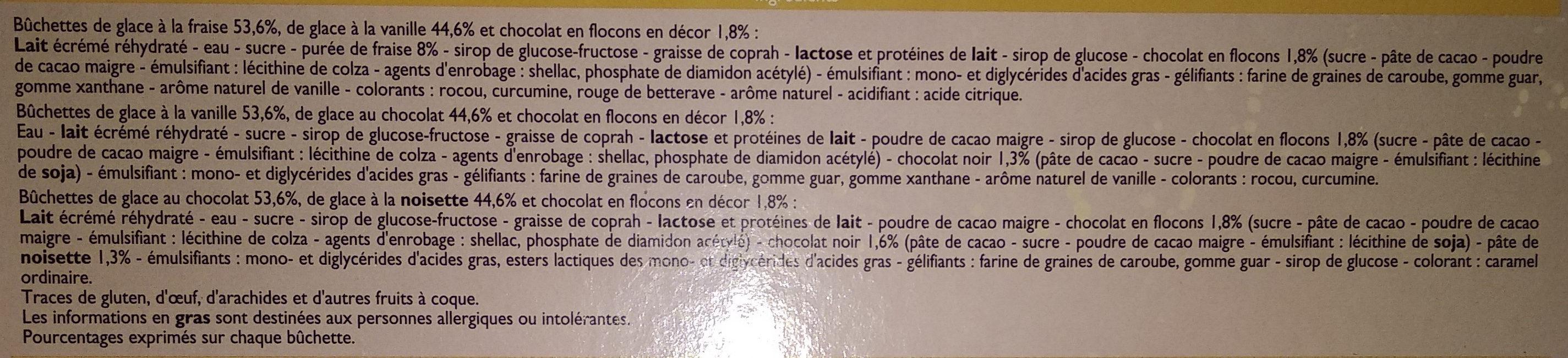 6 bûchettes glacées - Ingrédients - fr