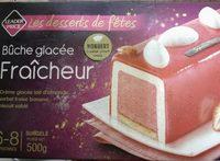 Bûche glacée Fraîcheur (lait d'amande, sorbet fraise banane, biscuit sablé) - Product - fr