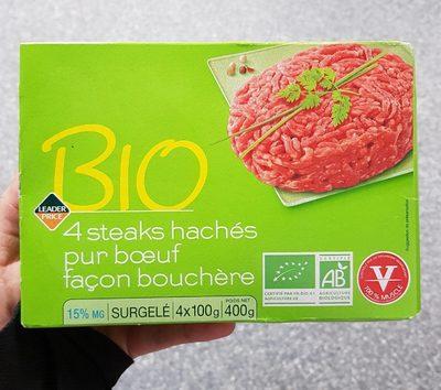 Steak Haché Pur Boeuf 15% MG BIO - Produit