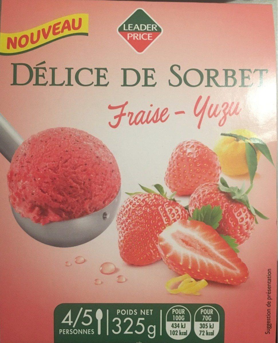 Delice de  sorbet fraise yuzu - Product