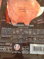 Chorizo Berni 20 tranches - Ingrédients - fr