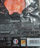 Chorizo Berni 20 tranches - Informations nutritionnelles - fr