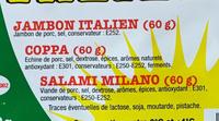 Assiette italienne - Ingrédients