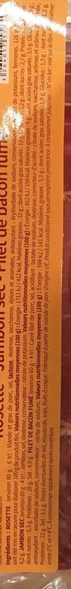 Raclette charcuterie - Ingrédients - fr