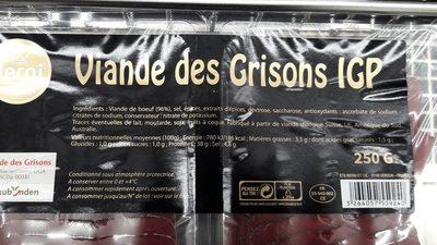 Viande De Grisons 30 Tranches - Ingrédients - fr