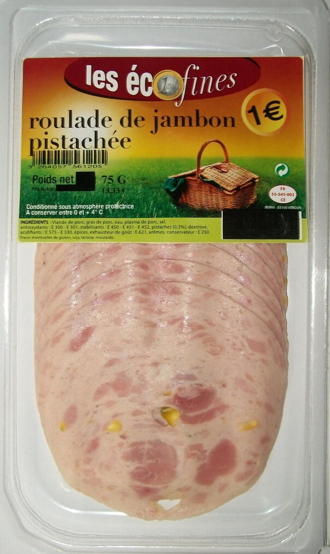 Roulade de jambon pistachée - Product - fr