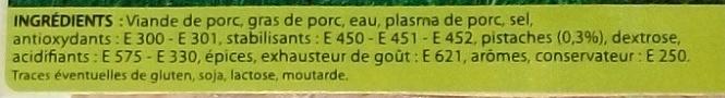 Roulade de jambon pistachée - Ingrediënten - fr