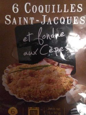Coquille saint Jacques et fondue aux cèpes - Produit - fr