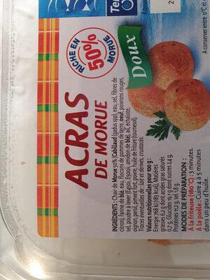 Acras de morue - Ingrediënten