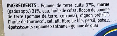 Brandade de morue parmentier - Ingrédients - fr