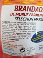 Brandade de morue parmentier - Informations nutritionnelles - fr