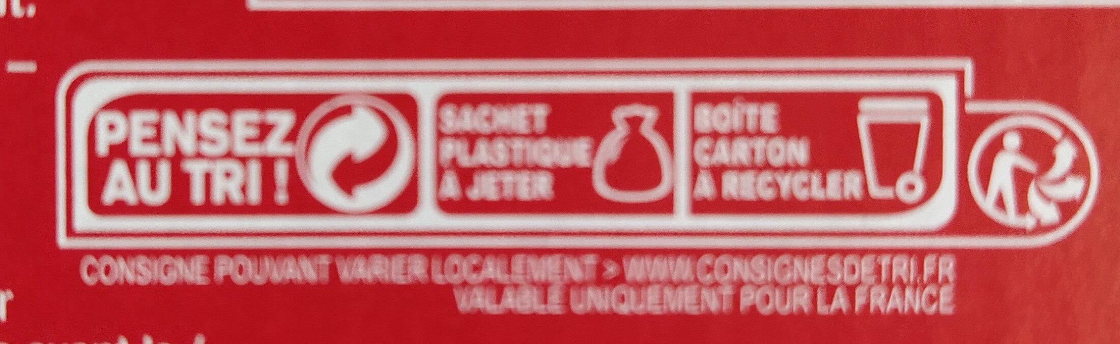 Bâtonnets pâtes de fruits - Instruction de recyclage et/ou informations d'emballage - fr
