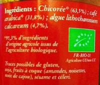 Café et chicorée soluble bio - Ingrédients - fr