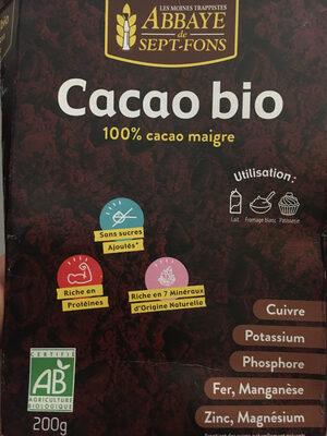 Cacao maigre 100% Bio - Produit - fr