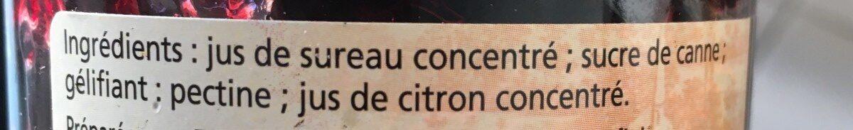 Gelée de Sureau - Ingredients - fr