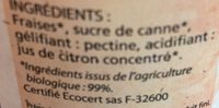 confiture allégée bio Fraises - Ingrediënten