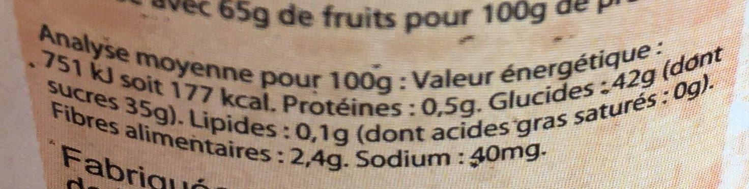 confiture allégée bio Fraises - Voedingswaarden