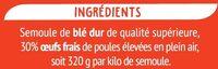 Cheveux d'Ange - Pâtes d'Alsace - Ingrédients - fr