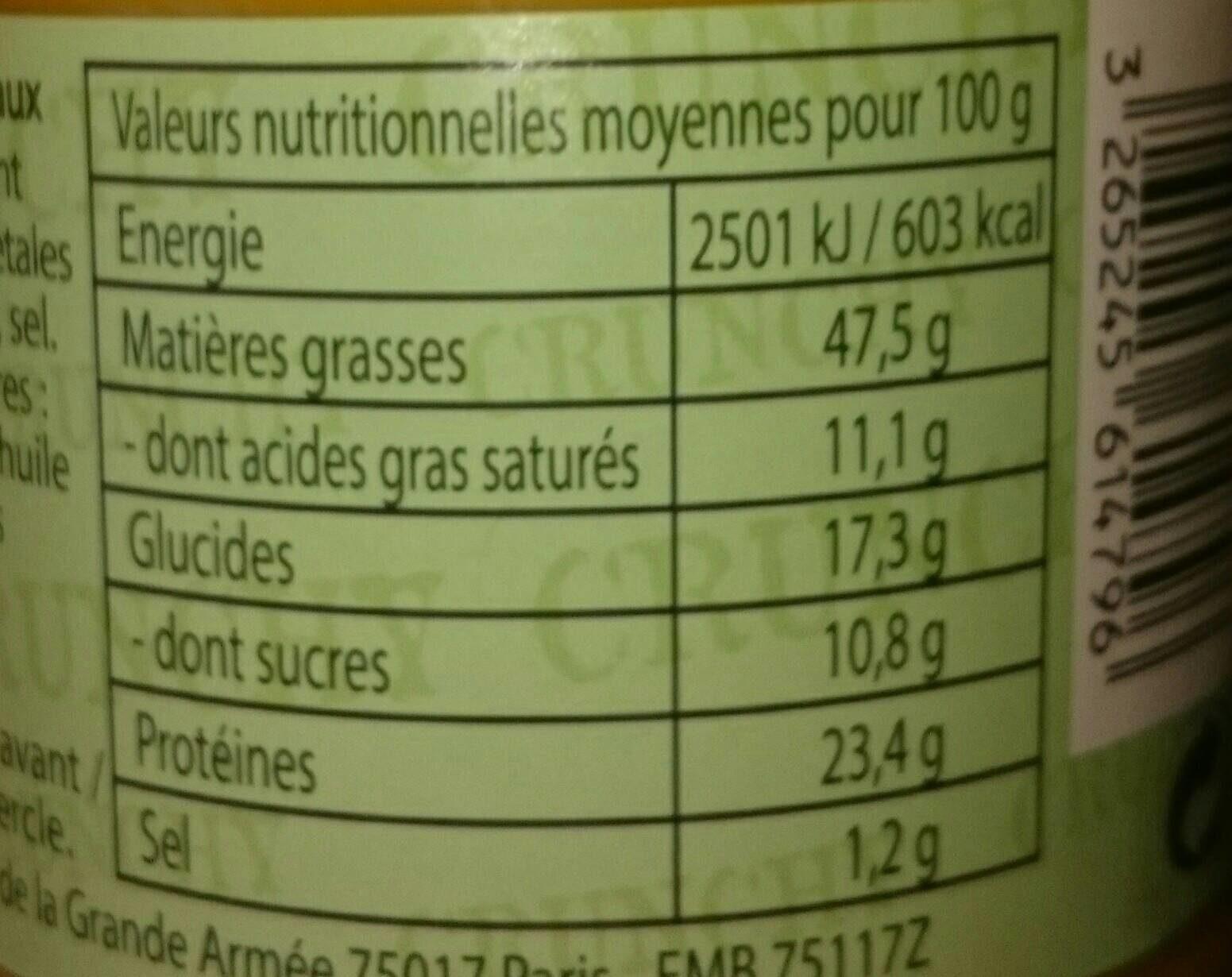 Peanut Butter Crunchy - Informations nutritionnelles - fr