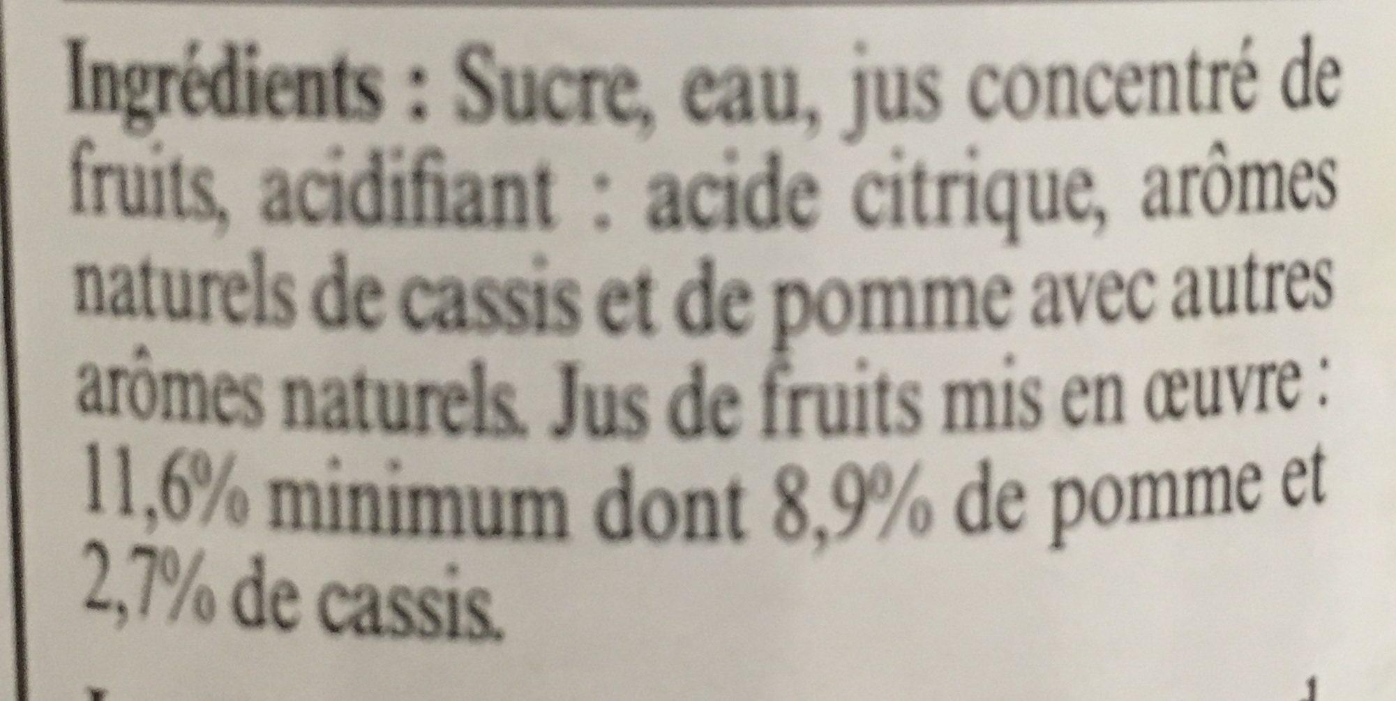 Sirop de pomme cassis - Ingrédients - fr