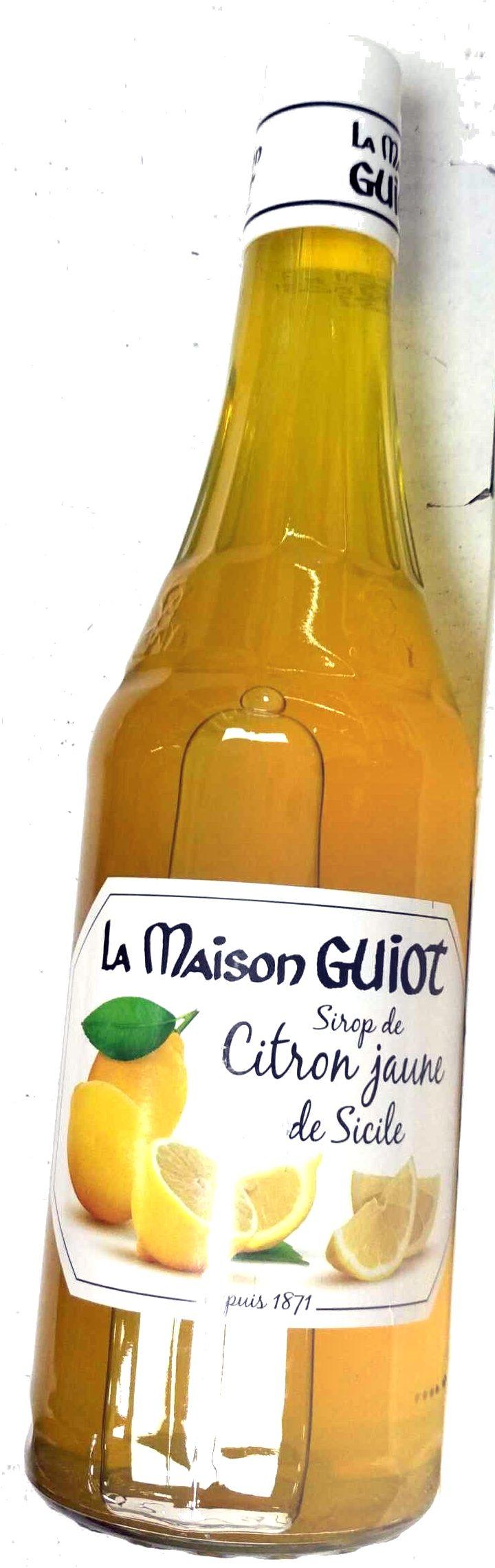 Sirop de citron jaune de Sicile - 製品 - fr