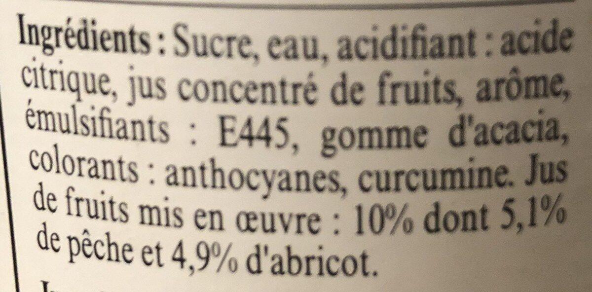 La Maison Guiot sirop pêche abricot - Ingredients - fr