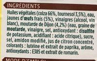 Mayonnaise - Ingredients - fr