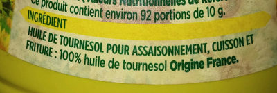 Coeur de Tournesol - Ingrédients