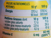 Coeur de Tournesol - Informations nutritionnelles