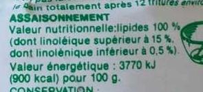 Arachide - Nutrition facts - fr