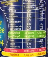 Vinaigrette légère Isio 4 Huile d'Olive & Vinaigre de Xérès - Informations nutritionnelles