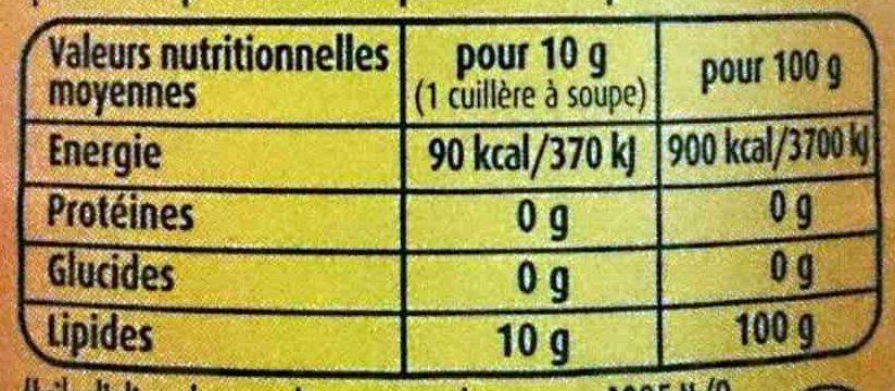 Fruité noir Edition limitée - Huile d'olive douce au bon goût d'olives confites - Informations nutritionnelles - fr
